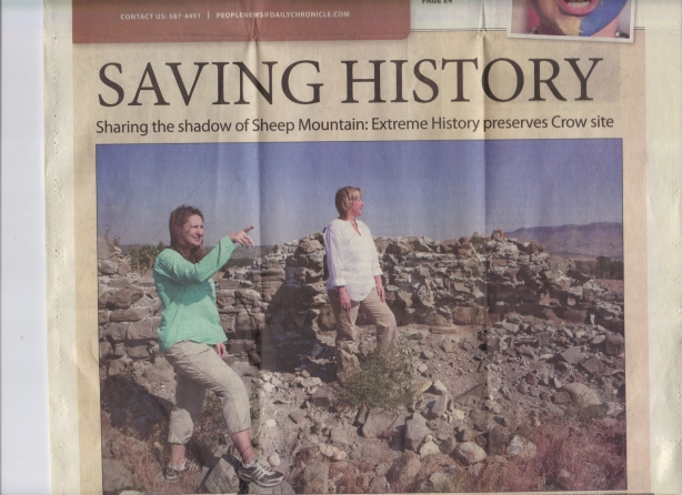 Saving History Sharing the shadow of Sheep Mountain: Extreme History preserves Crow site