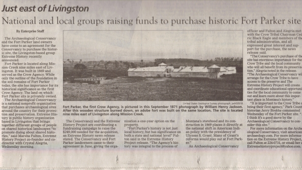 National and local groups raising funds to purchase historic Fort Parker site