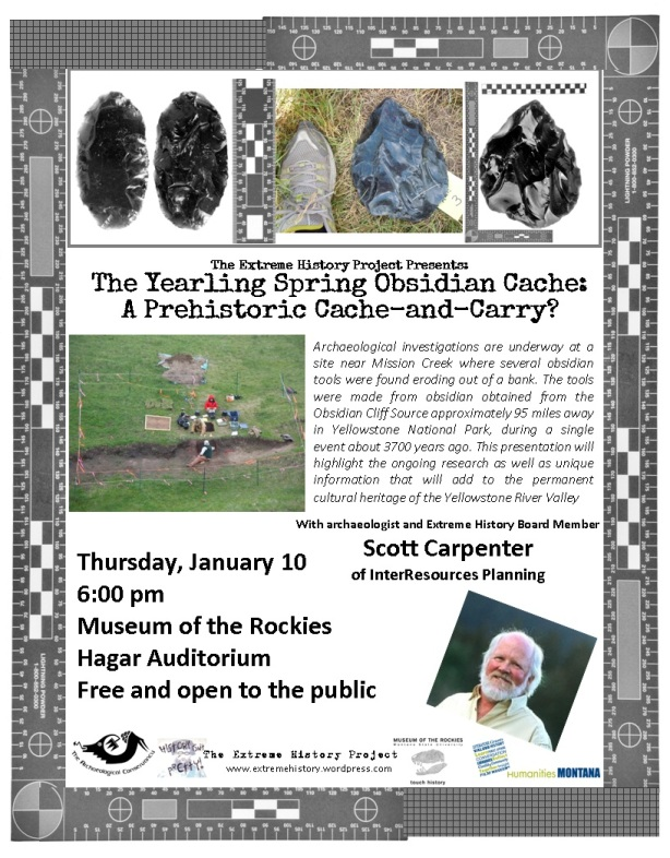 Archaeologist Scott Carpenter to speak at the Museum of the Rockies on Jan. 9th.