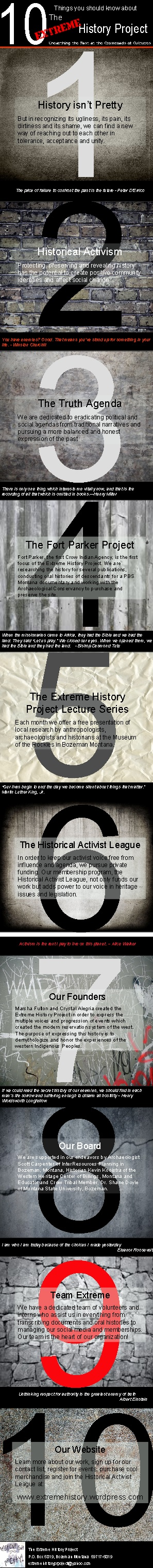 10 things you should know about The Extreme History Project