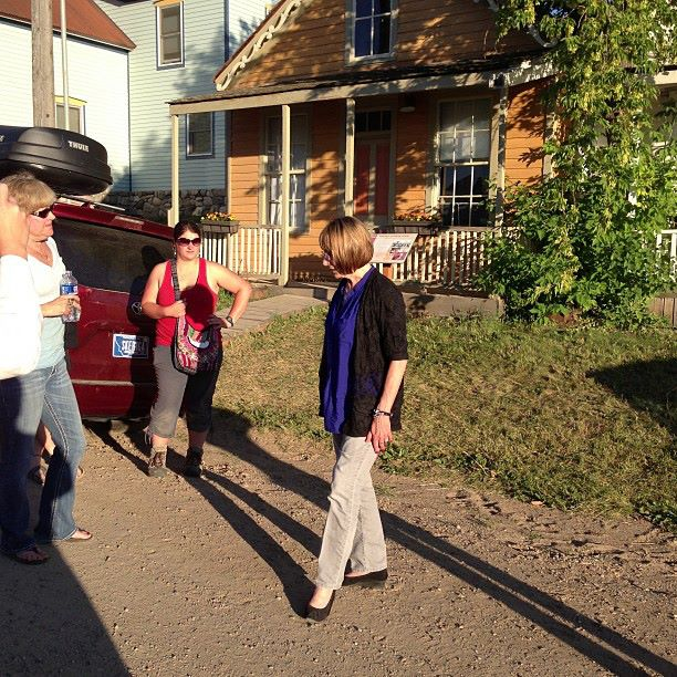 Historian Ellen Baumler gives her famous ghost tour of Virginia City, Montana.