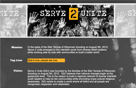 Learn more about Serve2Unite at http://serve2unite.org/8-5-12/