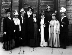 Photo Courtesy of Montana State University Special Collections Mary Alderson, second from right poses for a photo with Anna Gordon, the president of the Woman's Christian Temperance Union, and other members of the organization in 1916 in Helena.