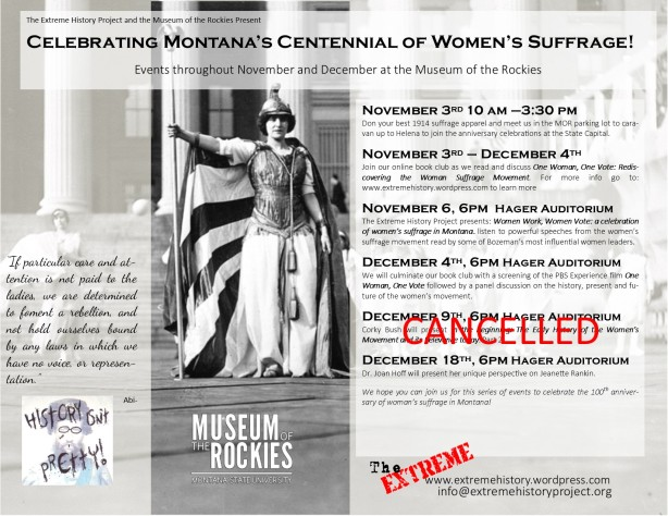 events flyer Corky cancelled