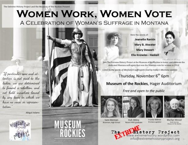 Women Work, Women Vote: A Celebration of Women's Suffrage in Montana