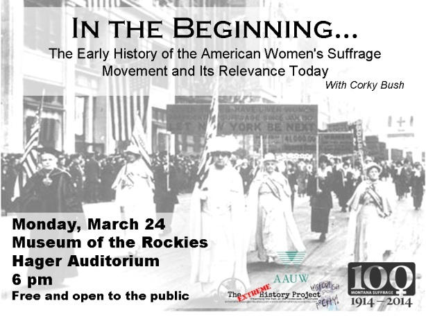 In the beginning the early history of the American Women's Suffrage Movement and its relevance today