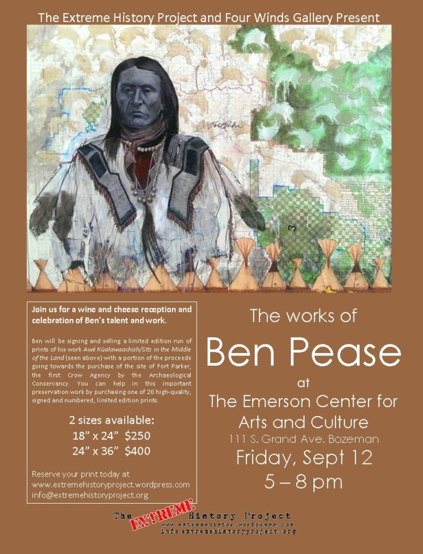 Ben Pease sells limited edition prints for Fort Parker purchase