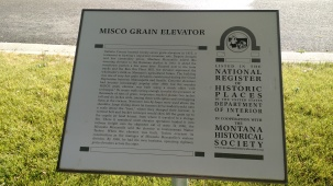 MISCO Grain Elevator National Register plaque