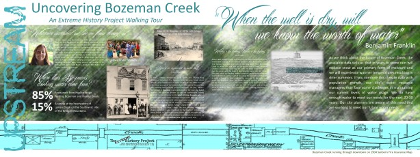 Bozeman Creek Tour Poster undivided